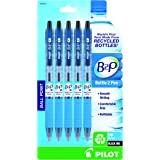PILOT B2P - 瓶装到笔可填充和可伸缩圆珠笔,回收瓶制成,细笔尖,黑色墨水,5 支装 (32612)