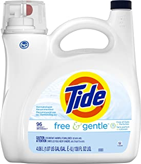 Tide Free & Gentle 洗衣液 96次 138液体盎司