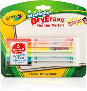 Crayola 干擦马克笔 细线条 课堂和学校用品