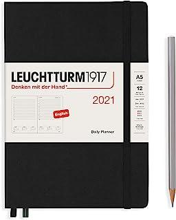 LEUCHTTURM1917 362092 每日日历 Master (A4+) 2021,黑色,英语