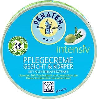 Penaten PENATEN 婴儿强力护理霜,面部和身体,婴儿护理霜,含橄榄叶提取物,婴儿保湿霜,24小时保湿(1 x 100毫升),100毫升