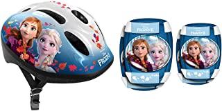 邮票头盔 + 护肘 / 护膝 冰雪奇缘 II 安娜,艾莎,RN244507,蓝色