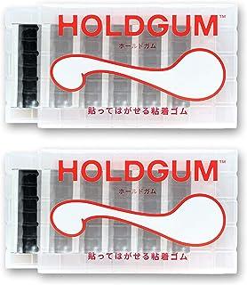 PAPEL 粘贴 橡胶 可剥落 可重复使用 墙壁 不会划伤 不打孔 粘贴 图钉夹 夹 黑色 2套 HLDGM-BK2