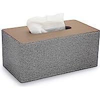 Sumnacon PU 皮革家用矩形纸巾架灰色