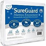 SureGuard 床垫 - * 防水、防虫、防* - 优质拉链双面盖 - 10 年保修 白色 两个 XL MATENC…