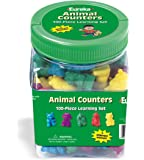Eureka Tub Of Animal Counters, 100 Counters in 3 3/4 x 5 1/2…