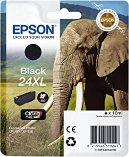 Epson 爱普生 T24 墨盒 大象 XL 黑色 黑色