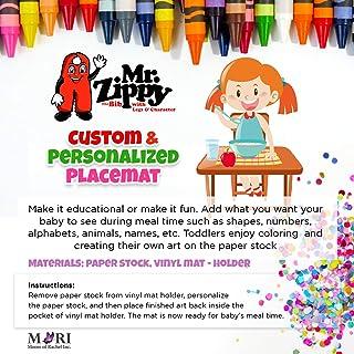 定制儿童婴幼儿餐垫 | 开发创造力 | 早期发展| 个性化餐垫 | 可重复使用的乙烯基垫