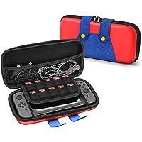 TNP Nintendo Switch Mario 主题旅行箱便携旅行携带硬壳 EVA 材料袋旅行者豪华保护套带手柄适用…
