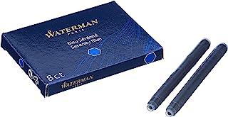 Waterman - 4 件装可水洗 Serenity 蓝色墨盒,标准尺寸
