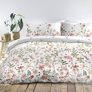 Dreams & Drapes - Aimee - 易护理羽绒被套套装 - 珊瑚色超大号双人床床尺寸
