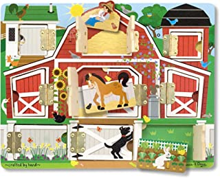 Melissa & Doug 磁性农场捉迷藏拼图板