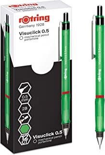 rOtring Visuclick 自动铅笔 | 0.5 毫米 | 2B 铅笔 | 活泼*笔杆 | 12 支