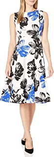 Calvin Klein 女士 无袖 公主缝 A字裙 中长款连衣裙