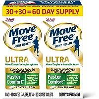 Move Free 益节 Ultra Faster Comfort 关节滋补片 基于钙&果糖硼酸钙,(一瓶60粒),每天…