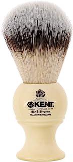 Kent BK4S 剃须刷,带超软银文本合成刷毛和人造象牙树脂手柄,与剃须膏或肥皂一起使用,打造完美泡沫。自 1777 年以来的奢华剃须,英国制造