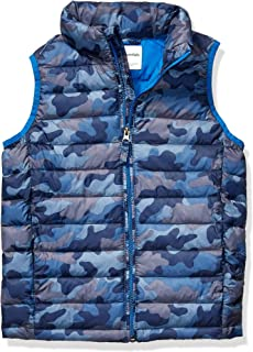 Amazon Essentials 男童轻质防水可压缩羽绒背心
