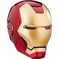 Marvel Legends 漫威超级英雄系列钢铁侠角色扮演头盔,双眼处带 LED 灯,配备电子音效和可拆式磁化面板,红…
