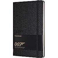 Moleskine James Bond 007限量版笔记本,带有主题图形和细节的直纹笔记本,硬封面,大尺寸13 x 2…