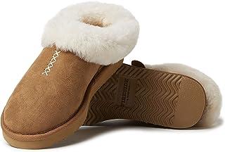 Dearfoams 女式 Fireside Shearling Adelaide 洞鞋拖鞋