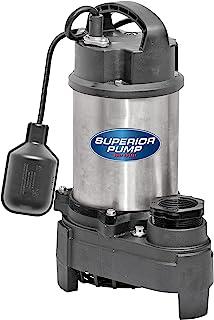 Superior Pump 92181 1HP 不锈钢和铸铁系绳浮动开关水泵,银色