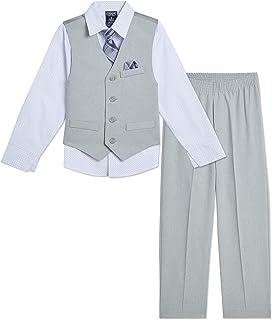 Chaps 男婴 4 件套正式装扮西装背心套装