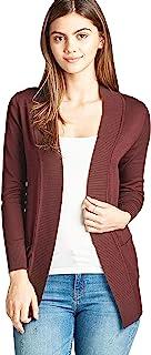 女式基本款长款长袖前开襟毛衣开衫外套