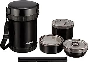 ZOJIRUSHI 象印 保温便当盒 约3杯茶碗量 约1.2合(约0.20L)可用于微波炉 黑色 SL-GH18-BA