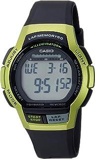 Casio 卡西欧 男式 10 年电池石英运动手表 树脂表带 黑色 19.3 (型号:WS-1000H-3AVCF)