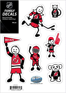 NHL Siskiyou Sports Fan Shop New Jersey Devils 家庭贴花套装 小号 均码 球队颜色