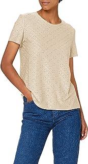 JdY 女士 Jdycathinka S/S Tag Top JRS Noos T 恤 灰色 S
