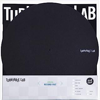 转盘实验室:专业薄垫(工艺风格)唱片垫(黑色,1 个垫子单)