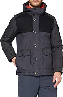 Regatta 男式 Wentwood V 防水透气压条接缝多口袋连帽三合一夹克