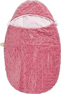 Nattou 睡袋,Iris 和 Lali ,适用于婴儿座椅或婴儿车,75 x 44 x 2 厘米,粉红色