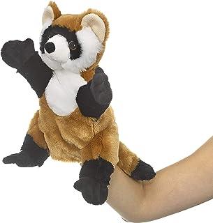 Eco Pals 黑脚雪貂木偶,野生动物艺术家,填充动物毛绒玩具木偶 11 英寸,环保,刺绣*和鼻子,由 * 消费后和再生材料制成