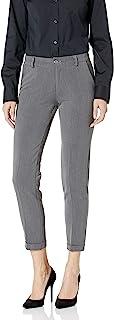 M Made in Italy 女式修身剪裁卷边长裤