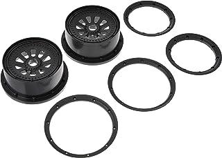 Team Losi 车轮和车锁套装 黑色 (2) 5T