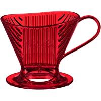 Melitta Signature 系列 1 杯冲泡咖啡机,共聚酯红色