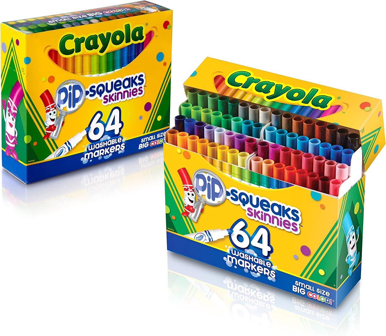 中亚prime会员 64支装 Crayola 绘儿乐 可水洗画笔