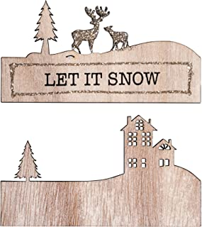 Rayher 46561000 木质装饰 m 文字 LET IT Snow,11x6.2 厘米,2-TLG,SB-Btl 1 件,白色,正常