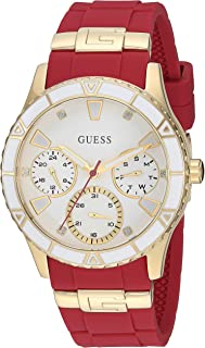 GUESS 男 女U1157L2 Analog 硅胶 红色 U1157L2 casual-watches