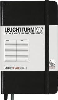 LEUCHTTURM1917 灯塔口袋型横格笔记本黑色硬封皮(A6)