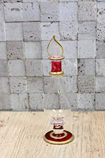 玻璃方形 玻璃永生花 植物标本 Towel 香水瓶 红色 40140 H12.4×直径3厘米