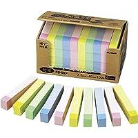 NICHIBAN 便签 点便条 7.5mm×45mm 粉彩线混色(黄色/粉色/蓝色/绿色)