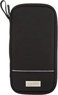 Amazon Basics 亚马逊倍思 RFID 旅行护照钱包收纳包 - 25.4 x 12.8 厘米,, 黑色//白色, 收纳袋