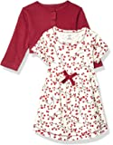 Touched by Nature 婴儿女童*棉连衣裙和开衫