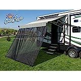Carefree 701508ACD 黑色 15 英尺 x 8 英尺 Drop RV 遮阳篷 EZ ZipBlocker