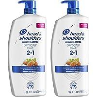 Head & Shoulders 洗发水护发素2合1 防头皮屑干性头皮护理,32.1盎司/950毫升,2件装