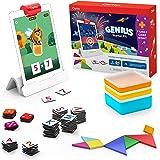 Osmo 适用于iPad的Genius入门套件+家庭游戏之夜-7个针对拼写,数学及更多内容的教育学习游戏-适合年龄6-1…