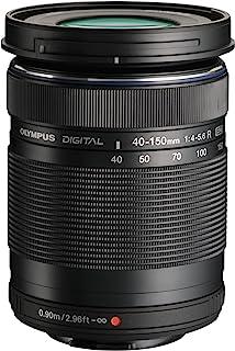 OLYMPUS 奥林巴斯 M.Zuiko Digital ED 40-150mm F4.0-5.6 R 数码相机远摄变焦镜头,用于微型三分之四相机(黑色)